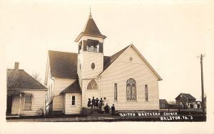 Ralston Iowa~United Brethren Church~Ladies~Houses~Barns~c1917 Real Photo~RPPC