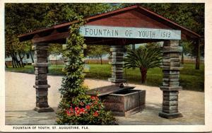 Florida St Augustine Fountain Of Youth 1916 Curteich