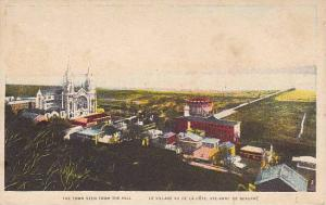 The Town Seen From The Hill, Ste. Anne de Beaupre, Quebec, Canada, 1900-1910s