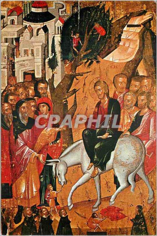 Postcard Modern Nicosia Rimeaux Icon 16th Century Church of Chrysaliniotissa