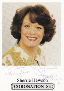 Sherrie Hewson Coronation Street Hand Signed Photo