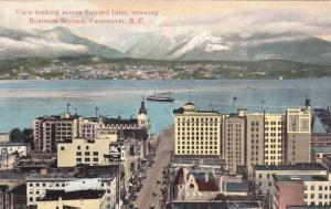 View Looking Across Burrard Inlet, Showing Business Section, Steamer, Vancouv...