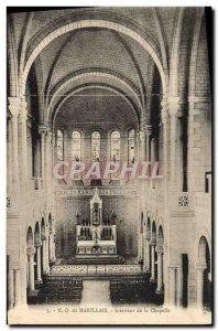 Old Postcard From N D Marillais Interior De La Chapelle