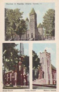 NAPANEE, Ontario, Canada, 1900-1910's; Grace And Trinity Church, Masonic Temple