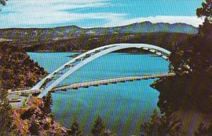 Utah Cart Creek Bridge Spanning Flaming Gorge Lake Near Flaming Gorge Dam