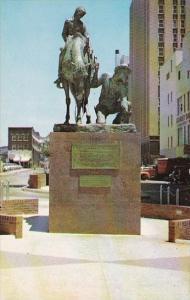 Oklahoma City The 89er Statue On Park Avenue In Downtown Oklahoma City