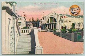 Seattle WA~Alaska-Yukon-Pacific Expo~Yukon Ave Looking West~AYPE X43~Postcard