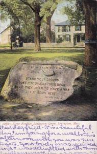 Stone Boulder Lexington Green Lexington Massachusetts