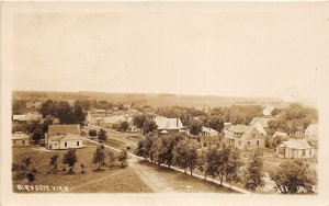 F99/ Kingsley Iowa RPPC Postcard 1915 Birdseye View Homes