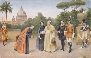 ITALY, 1900-1910's; Corte Nei Giardini Vaticani