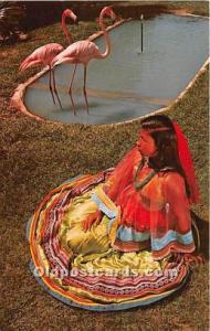 Published by Florida Natural Color Inc. Seminole Indians, Florida USA Postcar...