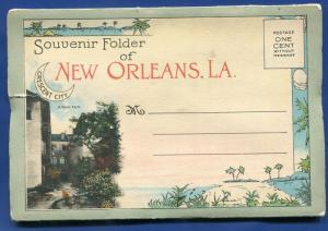 Romantic New Orleans Louisiana la 1940s postcard folder 1