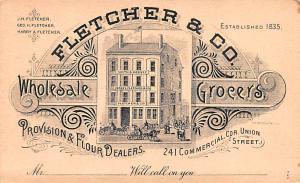 Pionner Advertising (1893 - 1898) Old Vintage Antique Post Card Fletcher & Co...