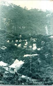 MT ROKKO, Japan  View of CAMPING TENTS on Mountain    c1940s     Postcard