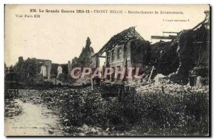 Old Postcard The Great War Front Belgian Bombardment Of Zuydscoote