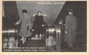 Accident Proof Escalators,Features of the Chicago Subway, Dated 1943