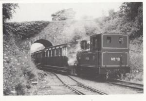 Hutchinson Train at Santon Road Bridge Port Erin Doulas Railway Postcard