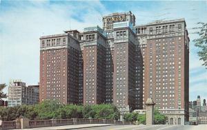 Chicago Illinois~Conrad Hilton Hotel~Essex Inn Next Door~1960s Postcard