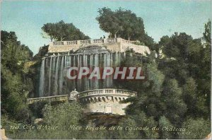 Postcard Old Nice Facade of the Cascade du chateau Riviera