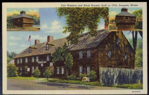 Fort Western Augusta ME unused 1940