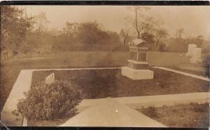 E34/ Van Wert Ohio Real Photo RPPC Postcard 1908 Catharine Davis Grave Cemetery5