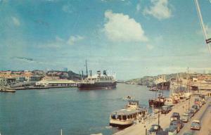 Curacao Netherlands West Indies Harbor Grace Liner Santa Postcard J74706