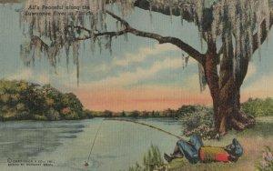 Boy Fishing , Suwannee River , Florida , 1930-40s