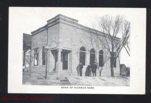 HICKMAN NEBRASKA BANK BUILDING DOWNTOWN ANTIQUE VINTAGE POSTCARD NEBR.