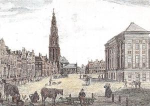 Netherlands Oud Groningen, Groote Markt Street Market Place