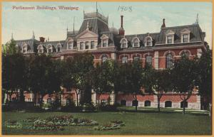 Parliament Buildings, Winnipeg, Manitoba, Canada - 1908
