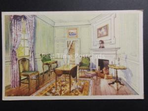 USA: Fairfax County VIRGINIA Mount Vernon SITTING ROOM - George Washington c1934