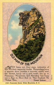 NH - Franconia Notch. Old Man of the Mountain