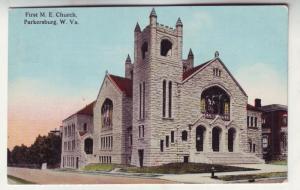 P199 JLs 1913 postcard 1st m. e. church parkersburg w. va.