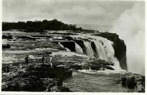 rhodesia, VICTORIA FALLS, The Rapids above the Main Falls(1940s) RPPC