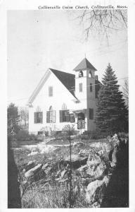 Collinsville Massachusetts Union Church Street View Vintage Postcard K64910