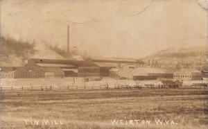E61/ Weirton West Virginia RPPC Postcard c1910 Tin Mill Factory