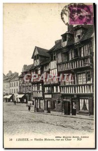 Old Postcard Lisieux Old Houses street chariot