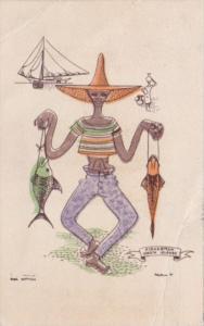 Virgin Islands Fisherman 1943