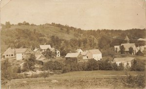 Middle Part of West Peru ME View Houses Hill Area Real Photo Postcard