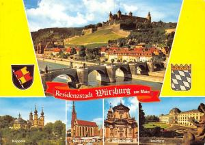 Wuerzburg am Main, Kaeppele Marienkapelle Residenz Bruecke Schloss Castle Bridge