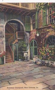 Louisiana New Orleans Brulatour Courtyard 1947 Curteich