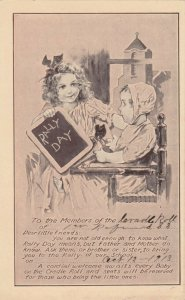 RALLY DAY, 1900-10s; Invitation, Little Girl with Toddler