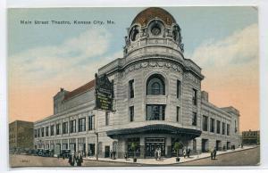 Main Street Theater Theatre Kansas City Missouri 1910s postcard