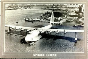 Postcard Spruce Goose Terminal Island Long Beach California Howard Hushes Unpost