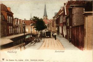 CPA VOORBURG Kerkstraat NETHERLANDS (602183)
