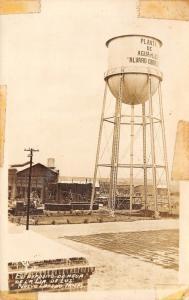 Nuevo Laredo MX Water & Light~Álvaro Obregón~Watertower~Agua Y Luz~RPPC 1940s