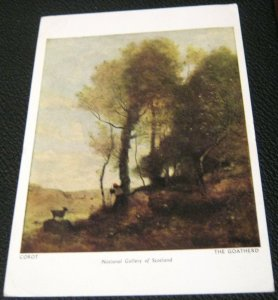 Art Painting Corot The Goatherd National Gallery Scotland - used 1962
