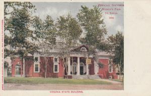 ST. LOUIS, Missouri, 1904 ; Exposition ; Virginia State Building