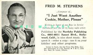 1949 E. St. Louis IL PC: Cowboy / Singer Fred M. Stephens