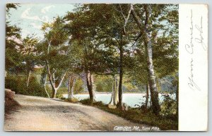 Camden Maine~Turn Pike~Gravel Road on Water Front~1905 Postcard